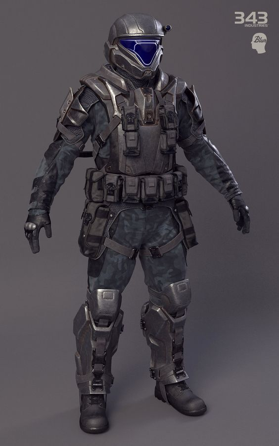 Halo 2: Anniversary ODST soldier., Sergey Samuilov on ArtStation at http://www.artstation.com/artwork/halo-2-anniversary-odst-soldier