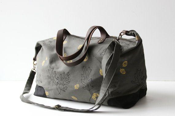 Weekender Bag Oak by jennarosehandmade on Etsy