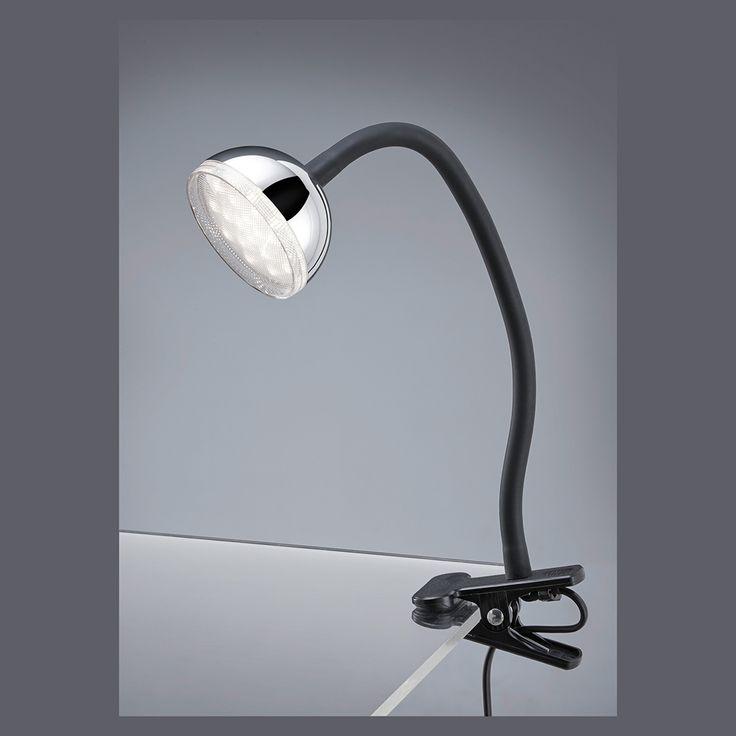 LED-Klemmspot, Tischleuchte mit OSRAM LED