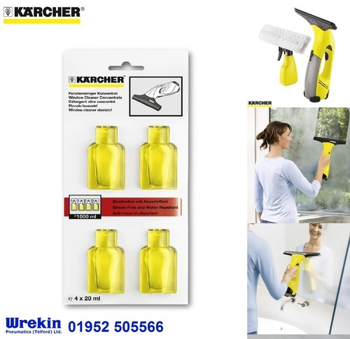 Karcher WV50 Window Vacuum Glass Cleaner Sachets for Shower Mirror Water QTY x4 | eBay