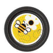 Honey Bee Party 7 inch Cake/Dessert Plates