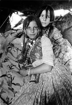 nomadic Romanian Gypsy girls