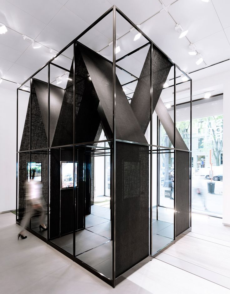 Italian firm SET Architects has wrapped fabric around a steel framework to create an installation and temporary exhibition space for ceramic tile manufacturer Florim.