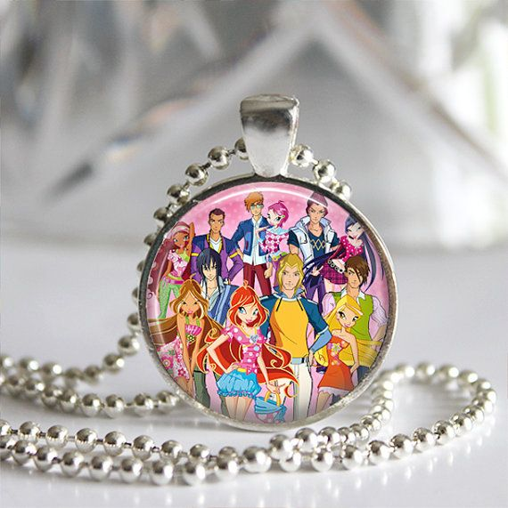 Winx Club Pendant Necklace - Gifts or Party Favors - Many other characters and themes to choose from