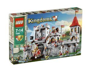 LEGO Kingdoms King's Castle (7946) by LEGO. $239.99. Figure stands approximately 2 inches tall.. Great addition to your LEGO Castle or Kingdoms setup!. Comes complete with Lance, Lion Shield, Barred Helm with Plume, Lion Flag and Hair Accessory!. WARNING: CHOKING HAZARD-SMALL PARTS & SMALL BALLS. NOT FOR CHILDREN UNDER 3 YEARS.. LEGO Kingdoms Castle Minifigure. Lion Knight!. LEGO 7946 KINGDOMS KING'S CASTLE 933 Pieces