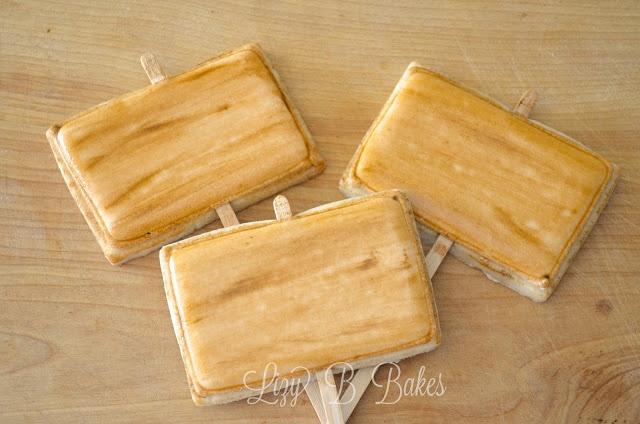 Lizy B: Take-A-Peek Tuesday! Easy Woodgrain Cookie Tutorial!