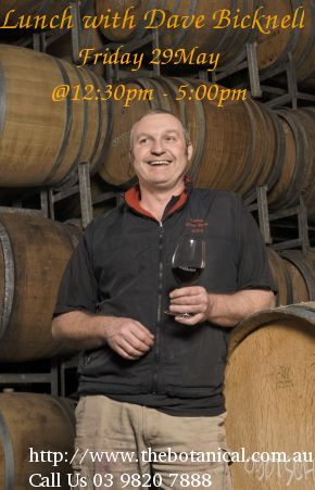 Join Oakridge winemaker extraordinaire David Bicknell over a fabulous lunch where he will show us the latest stunning single vineyard Chardonnay, Pinot Noir & Shiraz wines he has crafted from unique sites in the Yarra Valley.  Over 3 courses we will explore and enjoy 9 different wines that showcase the subtleties and nuances of these varieties and the influence of Australian terroir. One not to be missed and only $90 per head.
