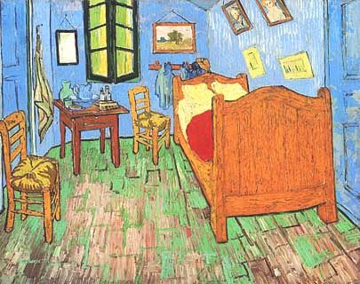"Vincent van Gogh, ""Van Gogh's Bedroom at Arles (Camera di van Gogh a Arles)"", 1888, The Art Institute of Chicago, Chicago (IL)"