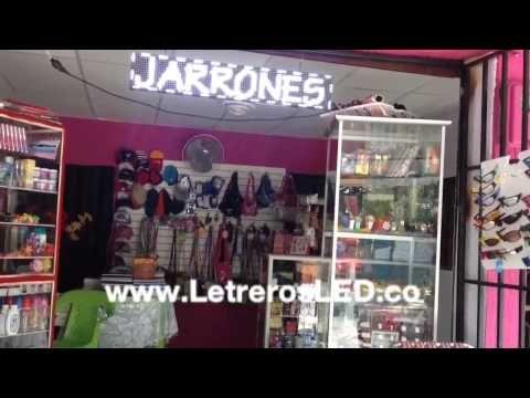 Aviso LED Mono-Color Programable 16x96cm. Lo mejor en Publicidad. - Letreros LED, Avisos LED, Pantallas LED Programables. Colombia - www.LetrerosLED.co