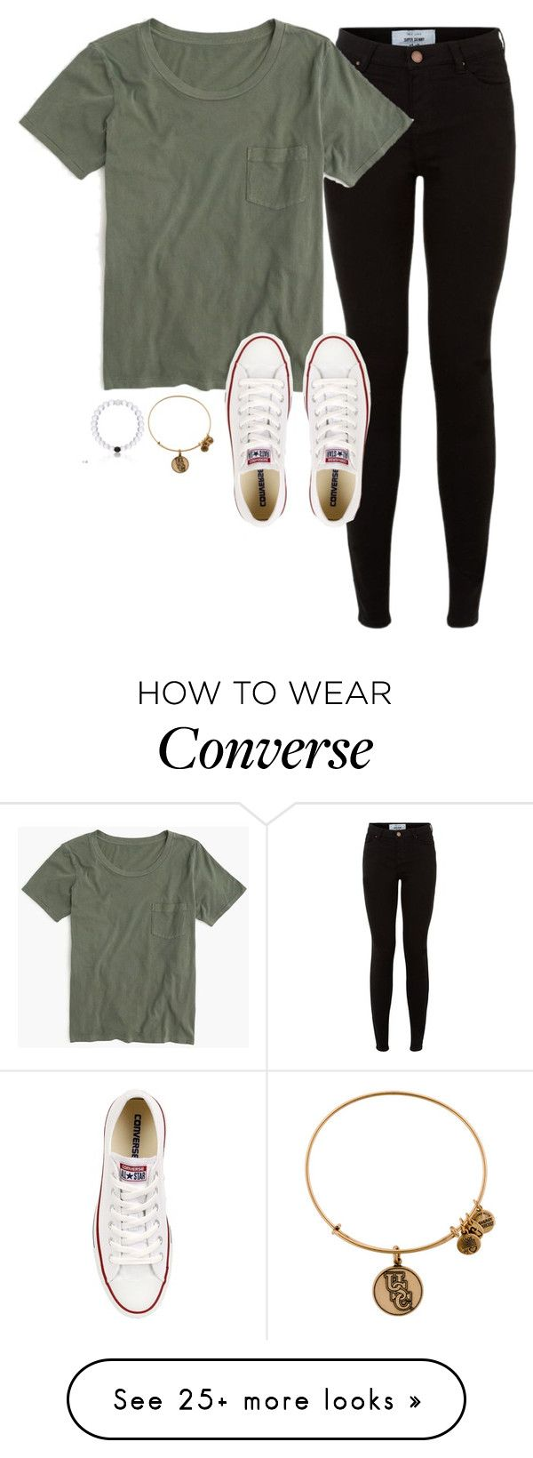 """Shawn Mendes Tomorrow"" by lizzielane33 on Polyvore featuring J.Crew, Converse and Alex and Ani"