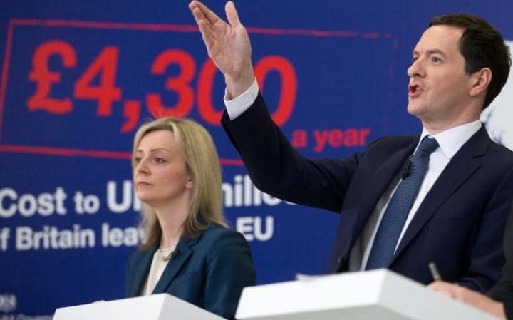 Chancellor George Osborne spells out how much he believes it will cost to leave the EU