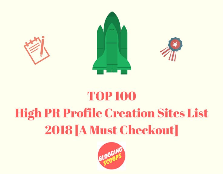 Get an updated list of Top 100 high PR dofollow profile creation sites list for 2018. Use these sites to get some good backlinks and increase your site's ranking and traffic. You can also even download the pdf of these high PR profile creation sites list pdf.