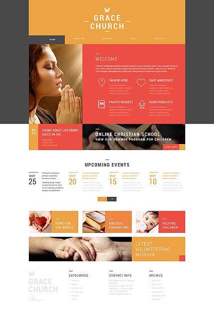 Template 52360 - Grace Church  Responsive WordPress  Theme