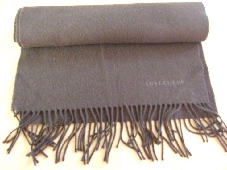 Longchamp Schal 10% Kaschmir cashmere 90% Merino scarf, made in Scotland, brown | eBay