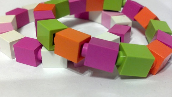 GIRL Lego Party Favors Set of 10 Bracelets by TheRighteousMisfit, $44.99