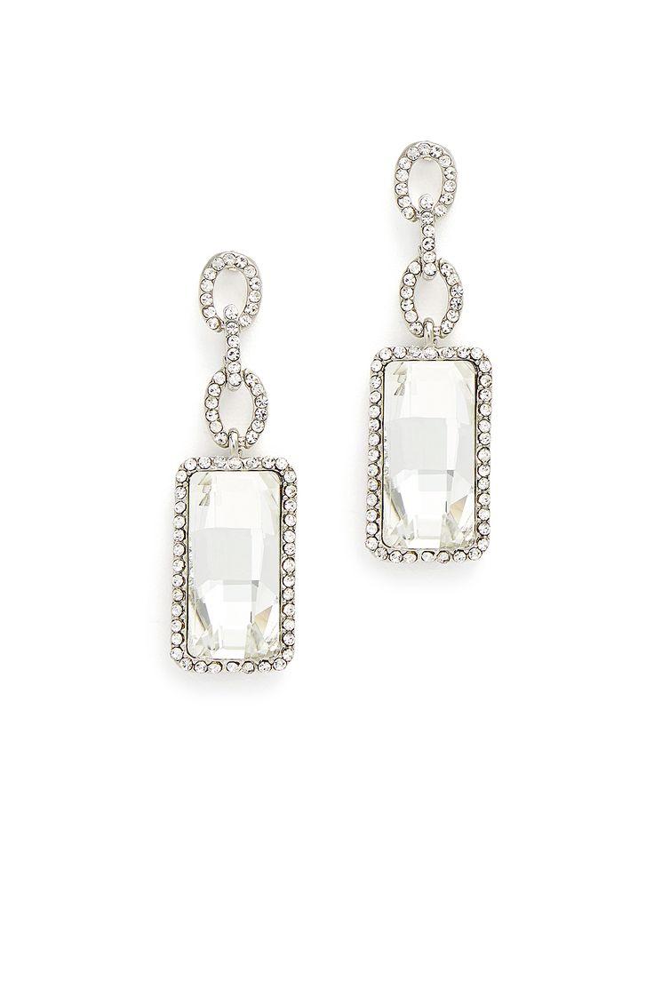 Crystal Baguette Earrings Rent The Runwaystickjewelry