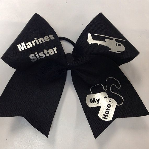 Marines Sister Cheer Bow (Customizable) on Etsy, $12.99