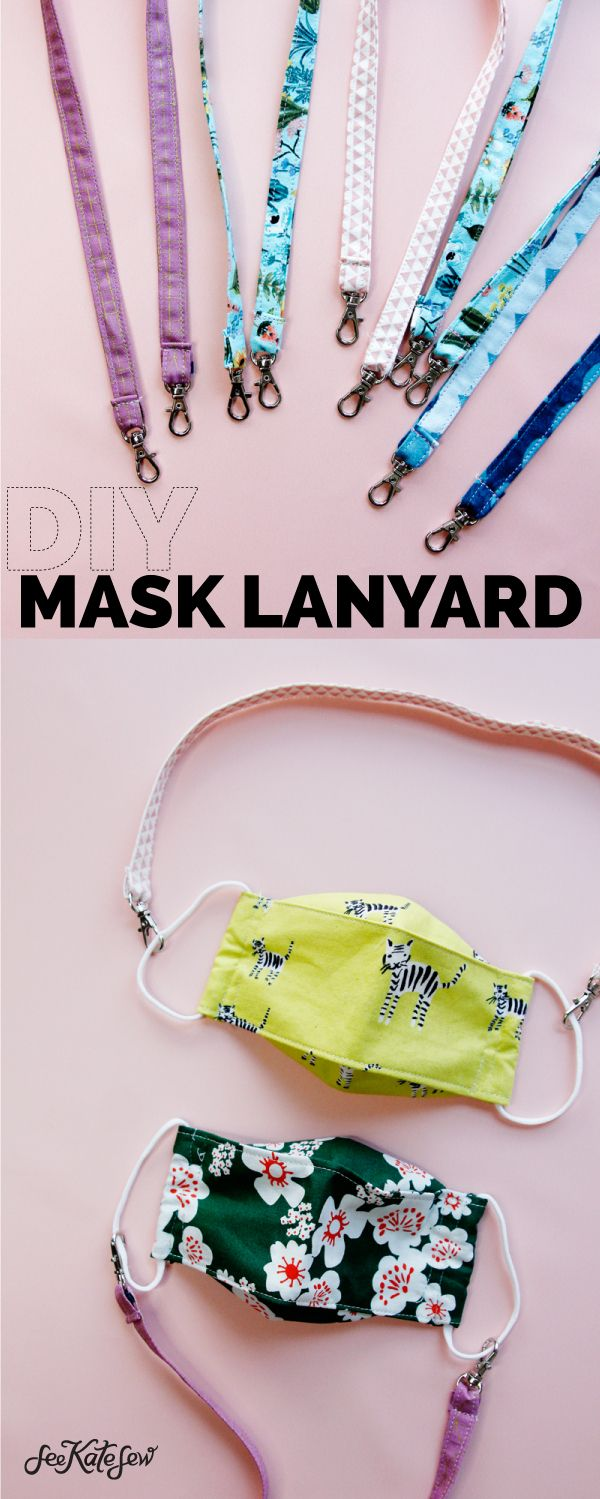 Face Mask Holder Strap DIY Lanyard with clips see kate