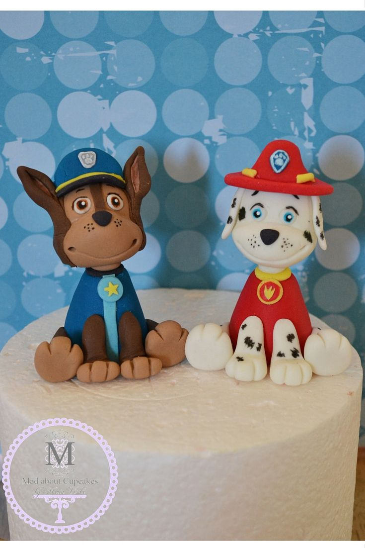 Chase and Marshall Paw Patrol buddies Cake Toppers