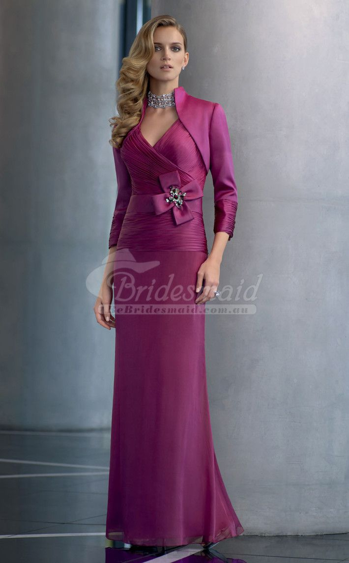 33 best Bridesmaid Dresses with Sleeves images on Pinterest | Brides ...