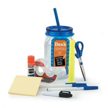 Desk Essentials Mason Jar Tumbler Kit