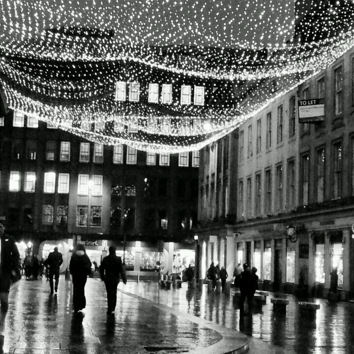 Royal Exchange Square, Glasgow. Nothing feels quite as magical on a crisp winters night