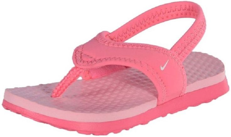 Girls Youth Little Celso Nike Pink Thongs Flip Flops