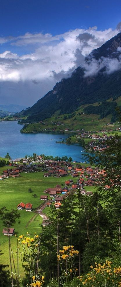 Lake Lungern in Switzerland.