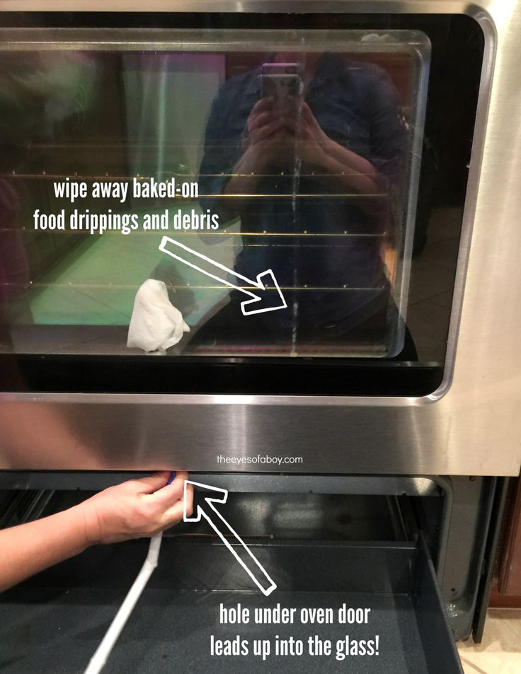 Simple oven cleaning hack that removes food from in between glass