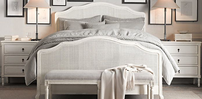 Reference shot of bed with chest either side wallis - Restoration hardware bedroom furniture ...
