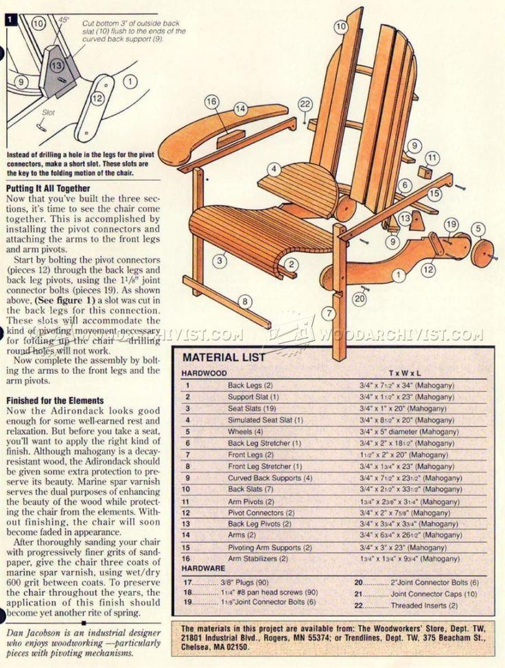 Oltre 25 fantastiche idee su Adirondack chair plans su ...