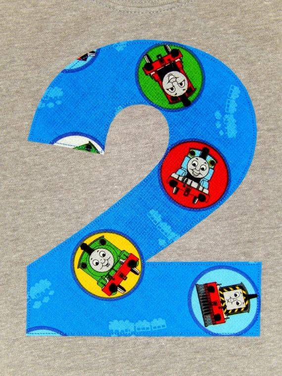 Thomas the Train Tank Engine and Friends Applique Number ...