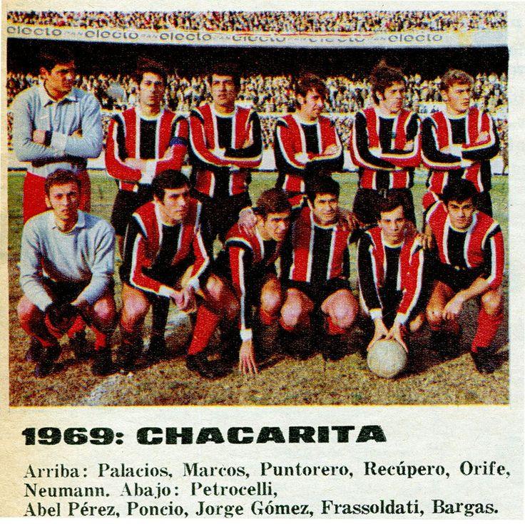 Chacarita Juniors of Argentina team group in 1969.