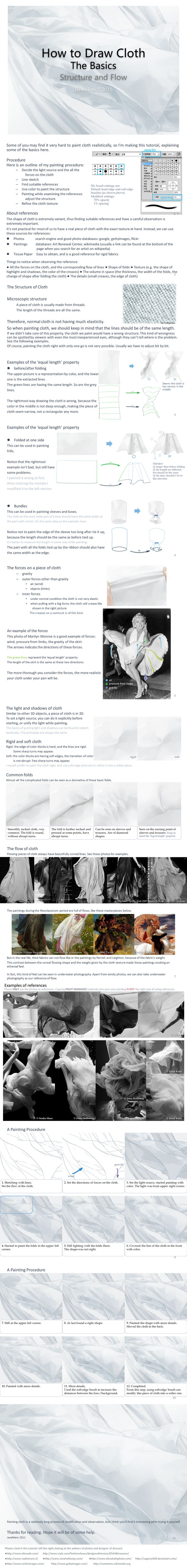 Drawing Basics: How to Draw Cloth...great for my fashion illustration classes.