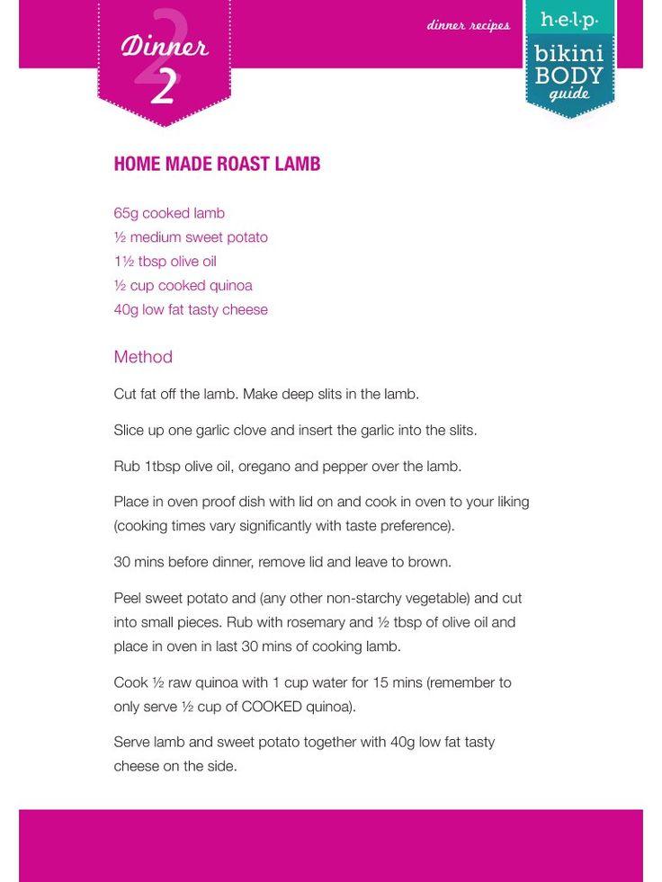 Bikini Body H.E.L.P Recipes - Day 2 Dinner