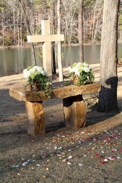 Custom stone altar (stole idea of Jenna Bush's wedding)