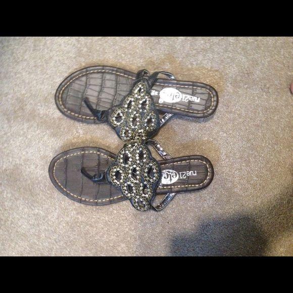 Rue 21 Sandals Slightly worn Rue 21 sandals. The inside is peeling slightly. Rue 21 Shoes Sandals