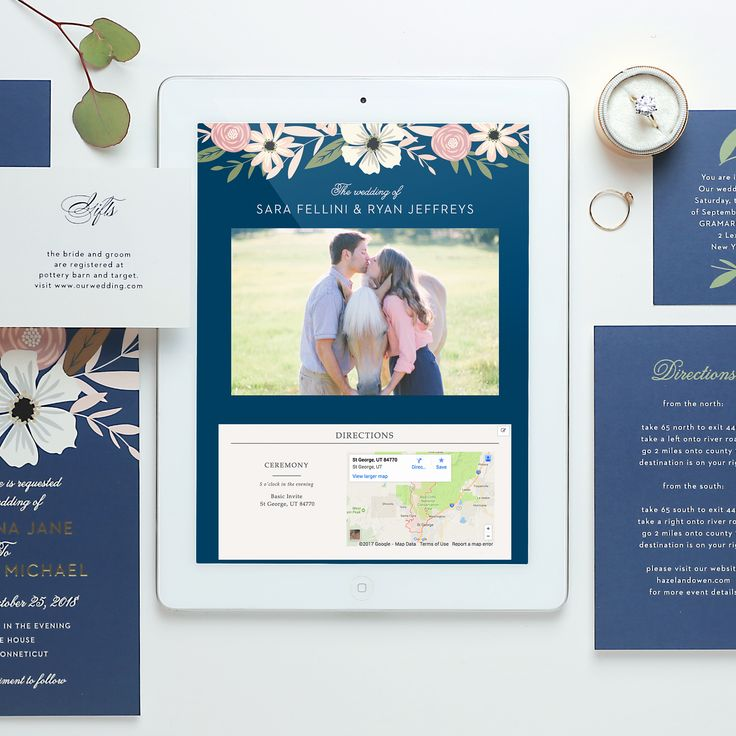 With gorgeous designs and styles to pick from Basic Invite has the perfect wedding website to fit your unique couple style. #sponsored #wedding