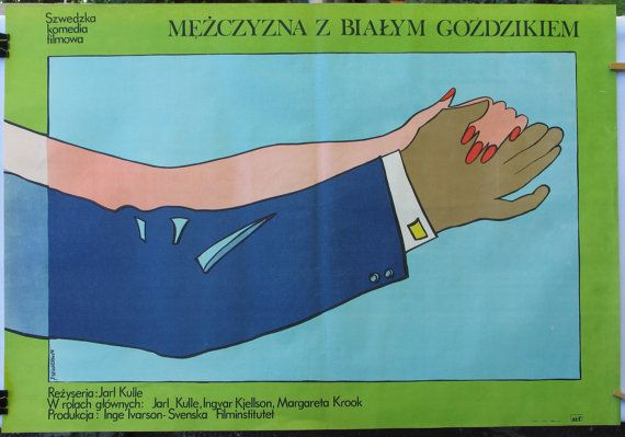 Poster. Swedish 1969s film  A man with a white by artwardrobe, $25.00