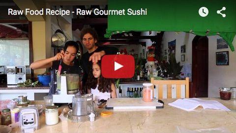 Gourmet Raw Vegan Sushi Recept! - The Raw News World Food