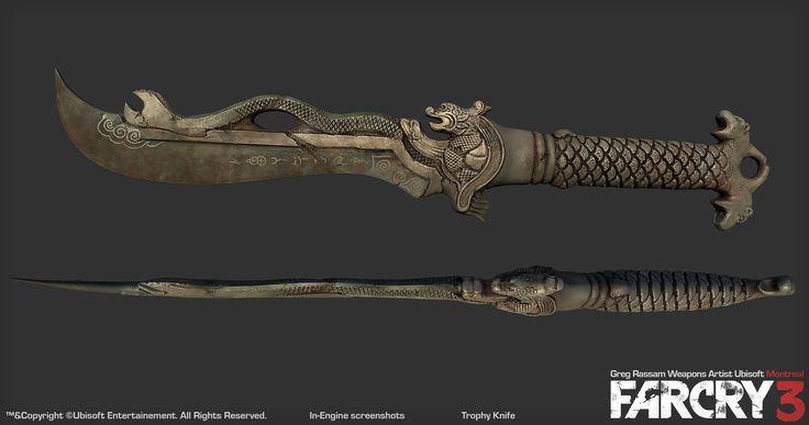 Trophy Knife – Farcry 3   Farcry   Knife art, Knife tattoo, Far cry 4