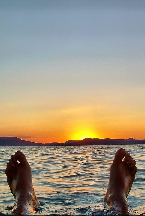The end of another summer weekend  - sunday sunset over Lake Balaton, Hungary