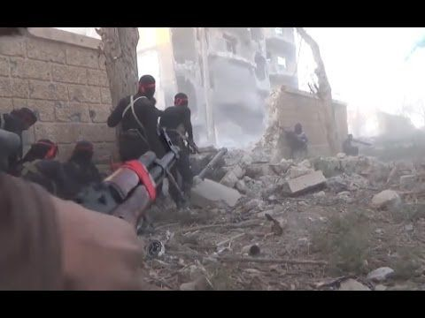 Syria War - Al-Nusra Front Insane Heavy Intense Urban Firefight Combat Action In Deir ez Zor