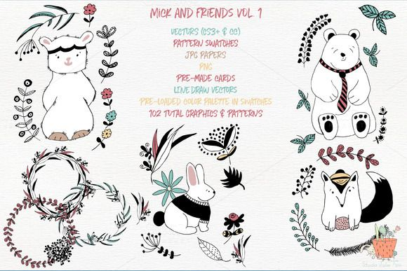 Mick and Friends Collection Vol 1 by Studio Julie Ann on @creativemarket