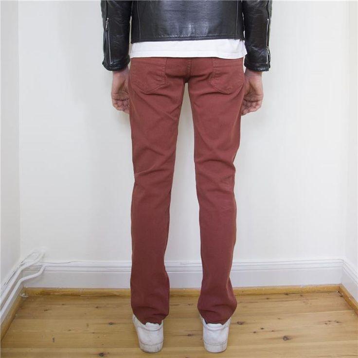 Filippa K - tegelröda jeans, herr på Tradera.com - Herrbyxor storlek