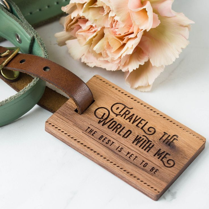 8 best Personalised Wood Luggage Tags images on Pinterest ...