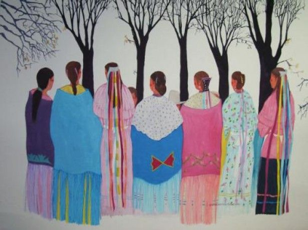"""Shawnee Women"" - Ruthe Blalock Jones (Delaware, Shawnee, Peoria)"