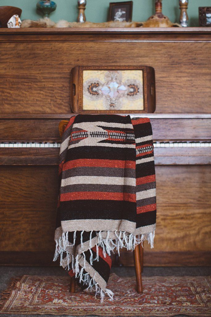 The Prism Blanket: Earth Tone Heavy Weight Mexican Blanket | Gunn & Swain