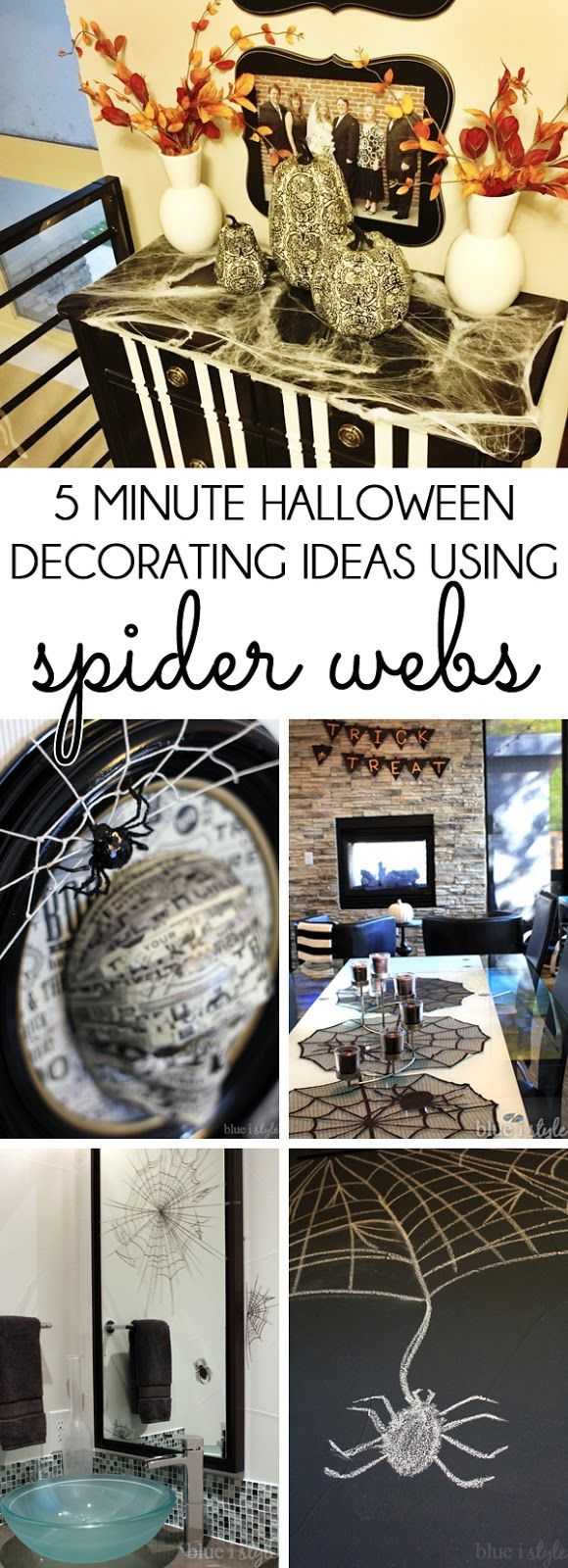 five minute friday simple halloween decorating ideas using spider webs - Quick Halloween Decorations