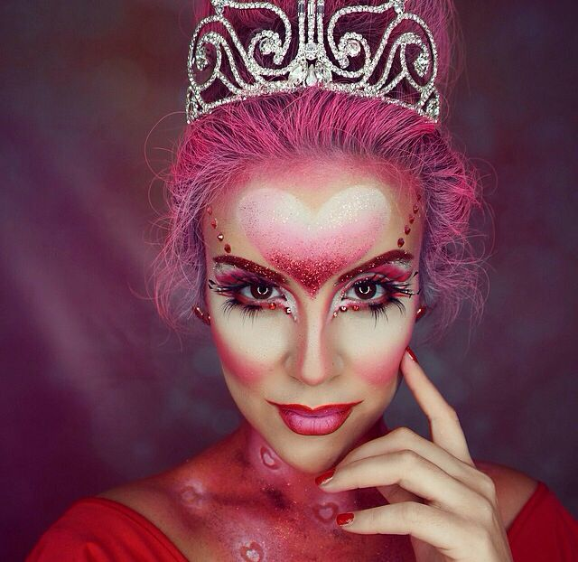 queen of hearts halloween makeup - Fun Makeup Ideas For Halloween